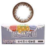 伊厶康冰淇淋单色系列彩色半年抛隐形眼镜一片装棕色