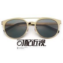 HAN SUNGLASSES不锈钢太阳眼镜架-金色(JK59320-C5)可配近视镜片
