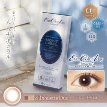 Ever Color 1day Natural Mosit Label UV保湿彩色隐形亚博竞猜日抛型20片装-Silhouette Duo