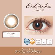 Ever Color 1 day Natural彩色隐形亚博日抛型20片装-Apricot Brown