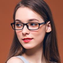 HAN MEGA-TR钛塑近视眼镜架-亮黑(HD3101-F02)