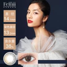 日本Femii 妃蜜莉彩色日抛隐形眼镜30片装-星辰子夜 灰