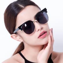 HAN SUNGLASSES PC防UV太阳眼镜-黑框灰片(HN55051 C1/M)