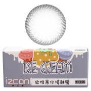 伊厶康冰淇淋双色系列彩色半年抛隐形眼镜一片装灰色
