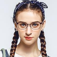 HAN TR光学眼镜架-热情酒红色(HN49408-C1)