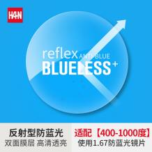 HAN ANTI-BLUE1.67智能反射型防藍光非球面樹脂鏡片(1.665)