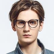HAN MEGA-TR钛塑光学眼镜架-亮黑色(HD49170-C2 )
