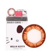 妆美堂hello kitty萌凯蒂猫月抛彩色隐形眼镜2片装-焦糖棕
