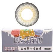 伊厶康冰淇淋三色系列彩色半年抛隐形眼镜一片装灰色