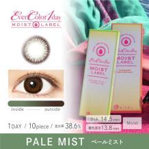 Ever Color 1 day MOIST LABEL彩色隐形眼镜日抛型10片装-Pale Mist