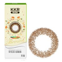 KKR舒透氧彩色隐形眼镜半年抛一片装雨境森林-棕色