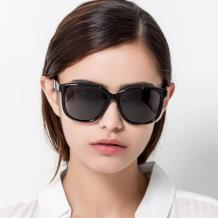 HAN SUNGLASSES PC偏光太阳眼镜-黑框黑灰片(HN55067L C4/L)