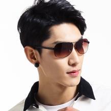 HAN时尚防紫外线太阳镜HD5828 银框浅水银片
