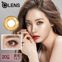 OLENS Secriss 秘瞳3色彩色隱形眼鏡日拋20片裝-珊瑚棕色