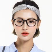 HAN时尚光学眼镜架HD4802-F01 经典亮黑