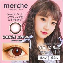 merche by AngelColor 月抛彩片2片装-CHERRYBROWN(海淘)