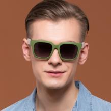 HAN时尚偏光太阳镜HD59308-S13 绿框渐进灰片
