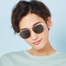 HAN RAZR-X9金属防UV太阳眼镜-黑框棕片(HN51007M C1)