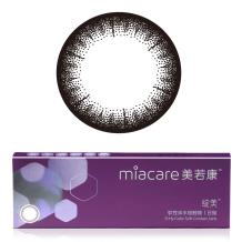 Miacare美若康绽美硅水凝胶彩色隐形眼镜日抛10片装-黑色(14.1直径随机发货染色直径不变