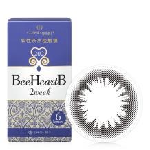 日本BeeHeartB蜜心妍2week美瞳双周抛6片装-深邃亮黑