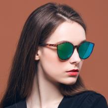 HAN RAZR-X9 TR钛塑防UV太阳眼镜-玳瑁框绿片(HN51008S-C2)