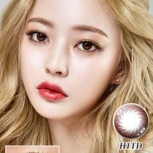 迷卡韩流时尚系列年抛一片装H1TD-倾心棕(近效期到19年4/6月)