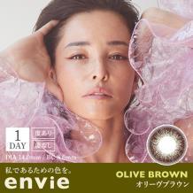 envie 10日抛彩色隐形10片装OliveBrown(海淘)