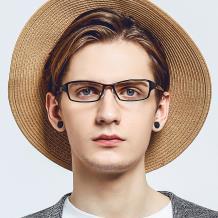 HAN 塑钢光学眼镜架-经典亮黑(HN49402-C1)