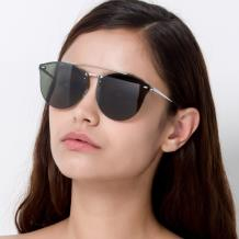 HAN RAZR-X9金属防UV太阳眼镜-银框浅绿片(HN51003M C1)