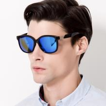 HAN SUNGLASSES PC偏光太阳眼镜-黑框蓝色片(HN55067L C1/L)