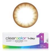 可丽博clearcolor1-day日抛彩色隐形眼镜10片装-棕色