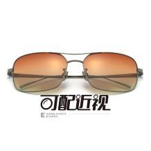 HAN純鈦光學眼鏡架-槍色近視框(JK5850-C3)