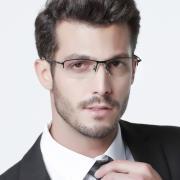 HAN时尚光学眼镜架HD4933-F01 亮黑色
