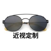 HAN SUNGLASSES不锈钢太阳眼镜架-黑框(JK59318-C4)可配近视镜片