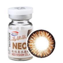 NEO蒽伊傲彩色隐形眼镜年抛一片装S5-2三色棕
