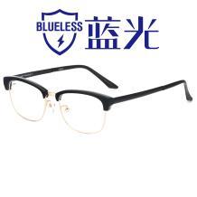 HAN纯钛板材光学眼镜架-黑金色(J82198-C1)