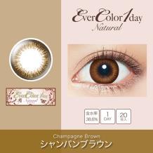 Ever Color 1 day Natural彩色隐形眼镜日抛型20片装-Champagne Brown