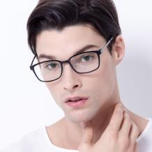 HAN COLLECTION钛塑光学眼镜架-韵黑(HN45003M C1)