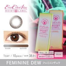 Ever Color 1 day MOIST LABEL彩色隐形眼镜日抛型10片装-Feminine Dew