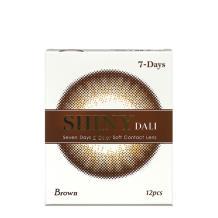 NEO SHINY DALI彩色隱形眼鏡單周拋12片裝-棕色