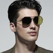 HAN COLLECTION金属防UV太阳眼镜-金框黄色片(HN52014M C1)