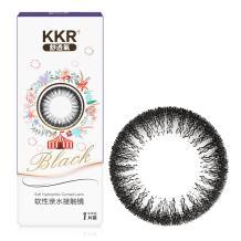 KKR舒透氧彩色隐形眼镜半年抛一片装奇幻乐园-黑色