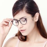 HAN时尚光学眼镜架HD3506-F01 亮黑色