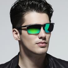 HAN SUNGLASSES铝镁合金偏光运动太阳眼镜-枪框绿片(HN51012L C3)