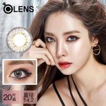 OLENS Secriss 秘瞳3色彩色隱形眼鏡日拋20片裝-珊瑚灰色