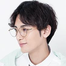 HAN COLLECTION純鈦光學眼鏡架-玳瑁色(HN42039 C2/M)