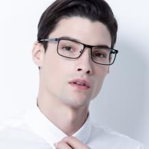HAN COLLECTION不锈钢光学眼镜架-哑黑色(HN42052 C1/L)