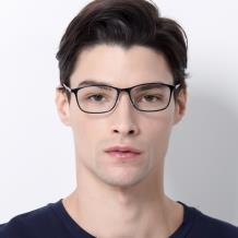 HAN MEGA-TR钛塑光学眼镜架-经典纯黑(HN49405-C1)