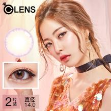 OLENS Crystal 絢晶3色彩色隱形眼鏡月拋2片裝-清瀅粉色