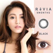 ReVIA蕾美彩色半年抛1片装-自然黑Black